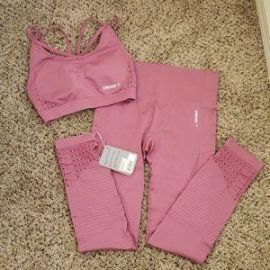 Gymshark leggins and sport bra set